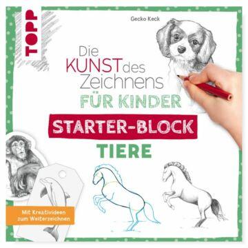 """Starter-Block """"Die Kunst des Zeichnens für Kinder - Tiere"""""""