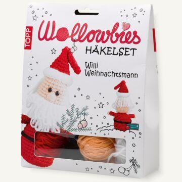 "Komplettset ""Wollowbies Häkelset Willi Weihnachtsmann"""