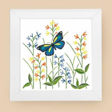 """Bild """"Blauer Schmetterling"""""""