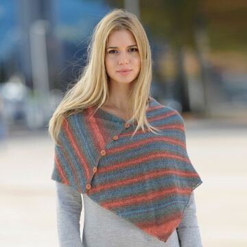 """Damenponcho / - loop """"Starwool Lace Color Linie 97"""" 758060"""