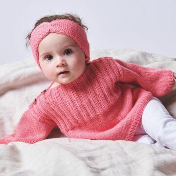 """Kinderpullover mit Mütze und Stirnband """"Baby Classic"""" 762117"""