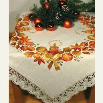 """Mitteldecke """"Weihnachtsdecke"""" (fertig gestickt)"""