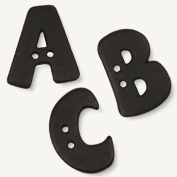 Alphabetknopf schwarz (einzeln)