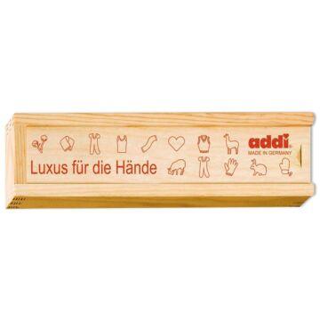 Holzbox für Häkelnadeln