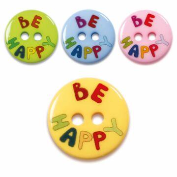 "Knöpfe ""Be Happy"""