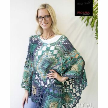 "Damenponcho ""Tropical"" LK4336"