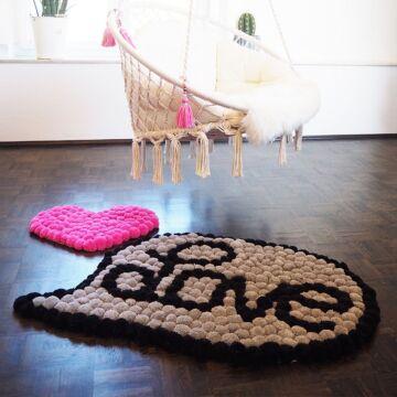 "Love Teppich ""Pick & Pom"" SM2065"