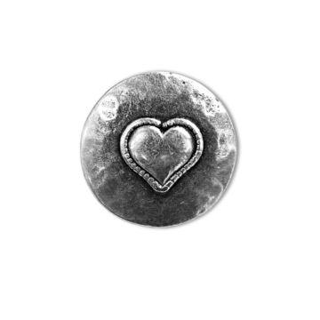 Metallknopf mit Herz