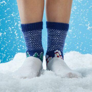 """Socken mit Winterlandschaft """"Regia & Feinstrumpf"""" SM2267"""