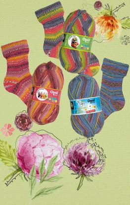 Frische, bunte Sockenwolle